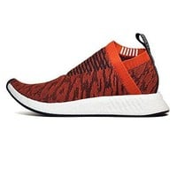 BY9406 Adidas Men NMD CS2 Primeknit orange future harvest core black .0 US