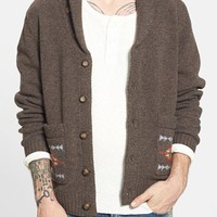 Men's Pendleton 'Pueblo Dwelling' Lambswool Shawl Collar