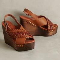 67 Collection Beky Platform Wedges Brown