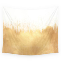Society6 Brushed Gold Wall Tapestry