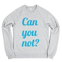 Can you not?-Unisex Heather Grey Sweatshirt