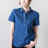 Taylor Stitch Denim Short Sleeve Popover Shirt [Taylor Stitch Scout Popover] : ORN HANSEN, Vintage + American Made General Store
