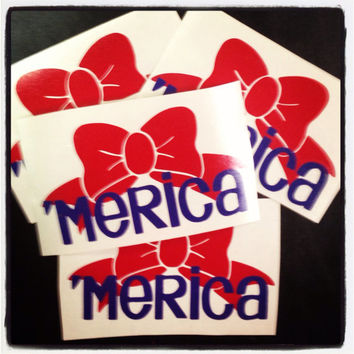 America Bow Decal by christylous on Etsy