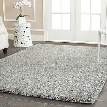 Safavieh California Shag Silver Area Rug & Reviews | Wayfair