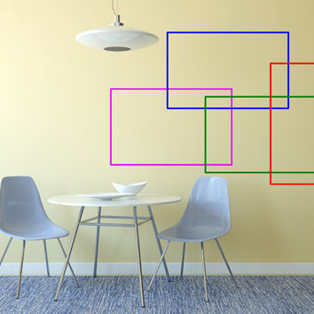 Modern Color Block Wall Decal Four Decals Included  Made To order Fast Production Shipping within 24 hours...Several Color Opt