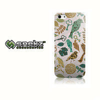 Collage Birds & Keys Design iPhone 4 4s, iPhone 5/5s, Iphone 5c Hard Case Cover