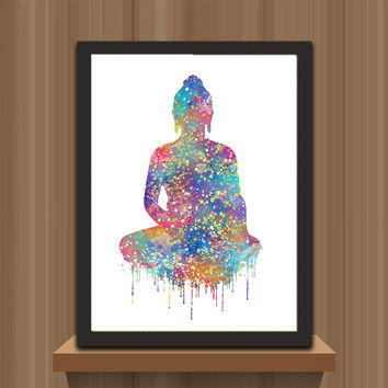 AZQSD Watercolor Art Prints Poster Abstract Wall Pictures Buddha Portrait Zen Large Canvas Painting Living Room Home Decor PP069