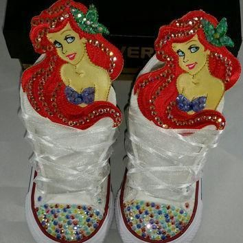 girls custom converse little mermaid minnie mouse hello kitty frozen dora doc mc