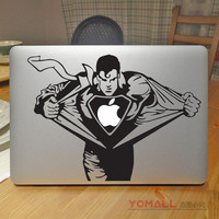 "Angry Superman Smallville Vinyl Laptop Sticker for Apple Macbook Pro Air Retina 12"" 11"" 13"" 15"" Mac Cover Skin Notebook Decal"