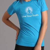Positive Thought Brand Live your Truth T-Shirt - Turquoise