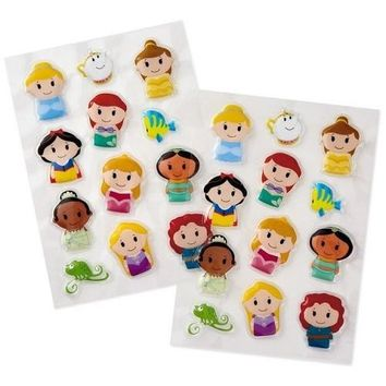 itty bittys Disney Princess Puffy Stickers, Pack of 24