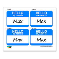Max Hello My Name Is - Sheet of 4 Stickers