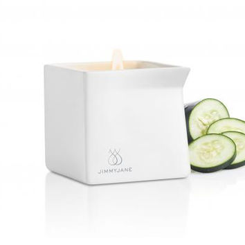 Jimmyjane Afterglow Natural Massage Candle - Cucumber Water