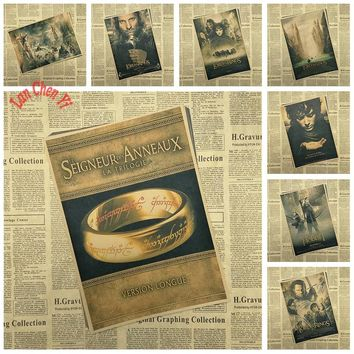 Classic Movie The Lord of the Rings Kraft Paper Poster Office Gift Room Dining Home Decor wall sticker Design