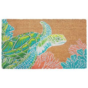 Sea Turtle Natural Doormat