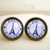 Retro Eiffel Tower Handmade Earrings