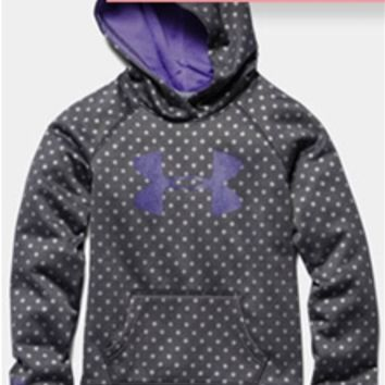 Under Armour Polka Dot Big Logo Storm Hoodie for Girls 1250403-090