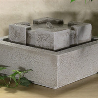 Modern Square Tabletop Fountain