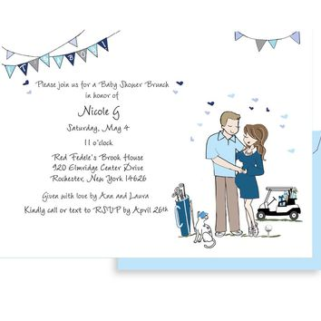 Personalized Baby Shower - Golf