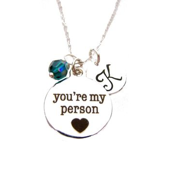 You're My Person - Personalized Sterling Silver Necklace