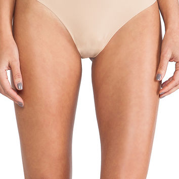 Commando High Rise Thong in Beige