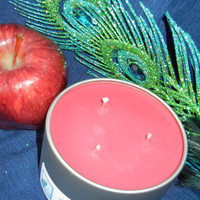 Macintosh Apple Scented Triple Wicked Soy Candle in Travel Tin