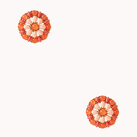 FOREVER 21 Ultra-Sweet Cluster Studs Gold/Coral One