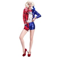 Harley Quinn Cosplay Suicide Squad Costume Jacket Women Anime Cosplay Halloween Costumes
