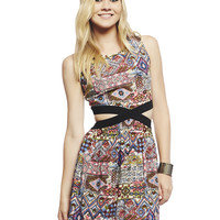 Side Cutout Tribal Dress | Wet Seal