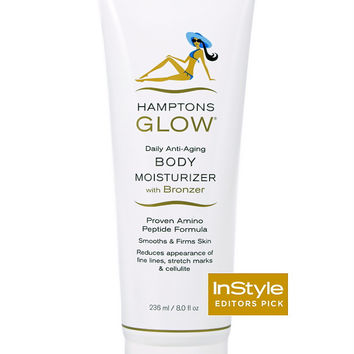 Anti-Aging Body Moisturizer with Bronzer & Gradual Tanner, Firmer & Smoother Looking Skin