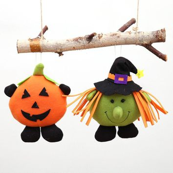 Lovely Halloween Party Decorations Hanging Doll Happy Pumpkin Witch Ornament Halloween Supplies Children's Gift Toy