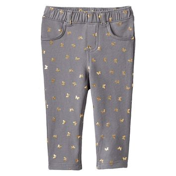 Jumping Beans Print Jeggings - Baby Girl, Size: