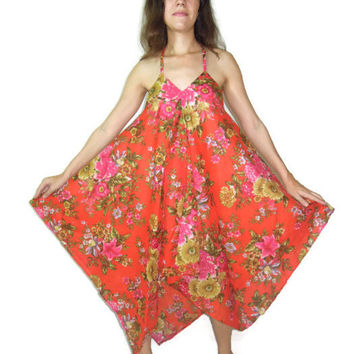 Maternity Dress Cotton Plus Size Maxi Halter Scarf Dress Boho Gypsy Handkerchief Nursing Pregnant Beach Dress S M L XL