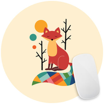 Rainbow Fox Mouse Pad Decal