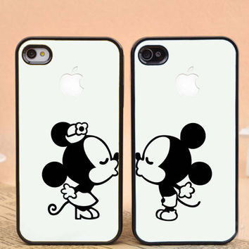 mickey and minnie mouse kissing,apple design for iPhone 4/4s, iPhone 5/5s/5c, Samsung Galaxy S3/S4 Case