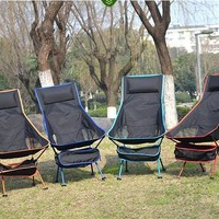Portable Ultralight Collapsible Moon Leisure Camping Chair with Bag for Outdoor Hiking Travel Picnic BBQ Beach Fishing