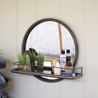 Three Tiered Round Zinc Mirror