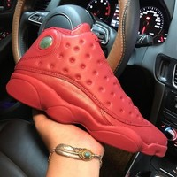 Air Jordan 13 Retro Gym Red 13-518257 XIII Red Men's Height Increasing Shoes Fashion Shoes Top Quality With Original Box US7-13