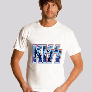 KISS  shirt Logo  Gene Simmons Tommy Thayer Paul Stanley Kiss Band shirt   Print  S-2XL
