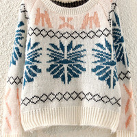 Beige Vintage Knitted Sweater