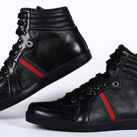 GUCCI Women Men Flats Sneakers Sport Shoes Boots Shoes-6