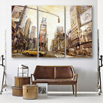 3 Pieces Canvas Art New York City Home Decoration Modern Painting Home Decor On Canvas Wall Pictures For Living Room Unframed