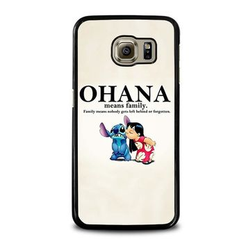 lilo and stitch ohana family disney samsung galaxy s6 case cover  number 1