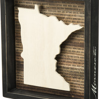 State Patriotic Pride Shadow Box Frame - Minnesota