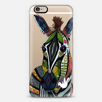 zebra love transparent iPhone 6 case by Sharon Turner | Casetify