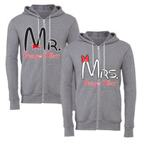 mrs always right mr always right matching couple zipper hoodie