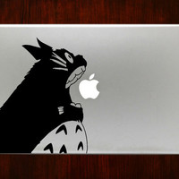 "Totoro Biting Apple m159 Design Decal Sticker Vinyl For Macbook Pro Air Retina 13"" 15"" 17"" Inch Laptop Cover"