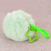 Cute Imitate Rabbit Fur Ball Car Keychain Handbag Key Ring Feida