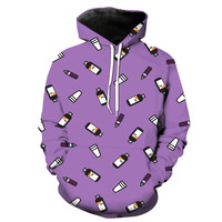 Prometh With Codeine Cough Syrup Baby Bottles and Styrofoam Cups Hoodie