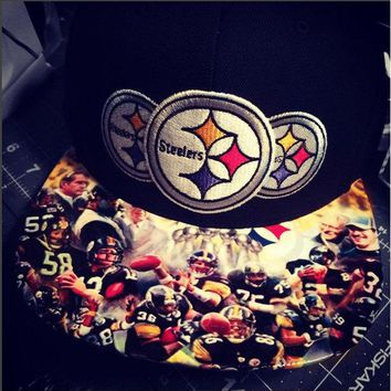 Pittsburgh Steelers Authentic New Era Snapback or Fitted Cap with Legends custom
